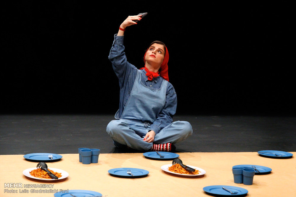 Iranian girls running theater