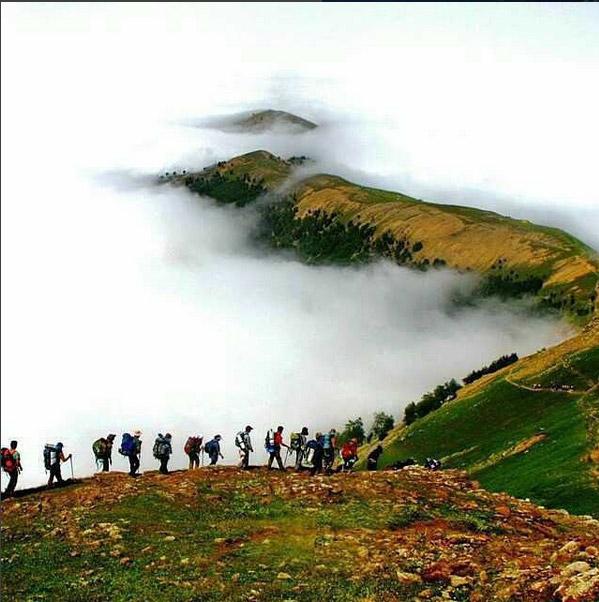 Amazing climbing route in IRAN