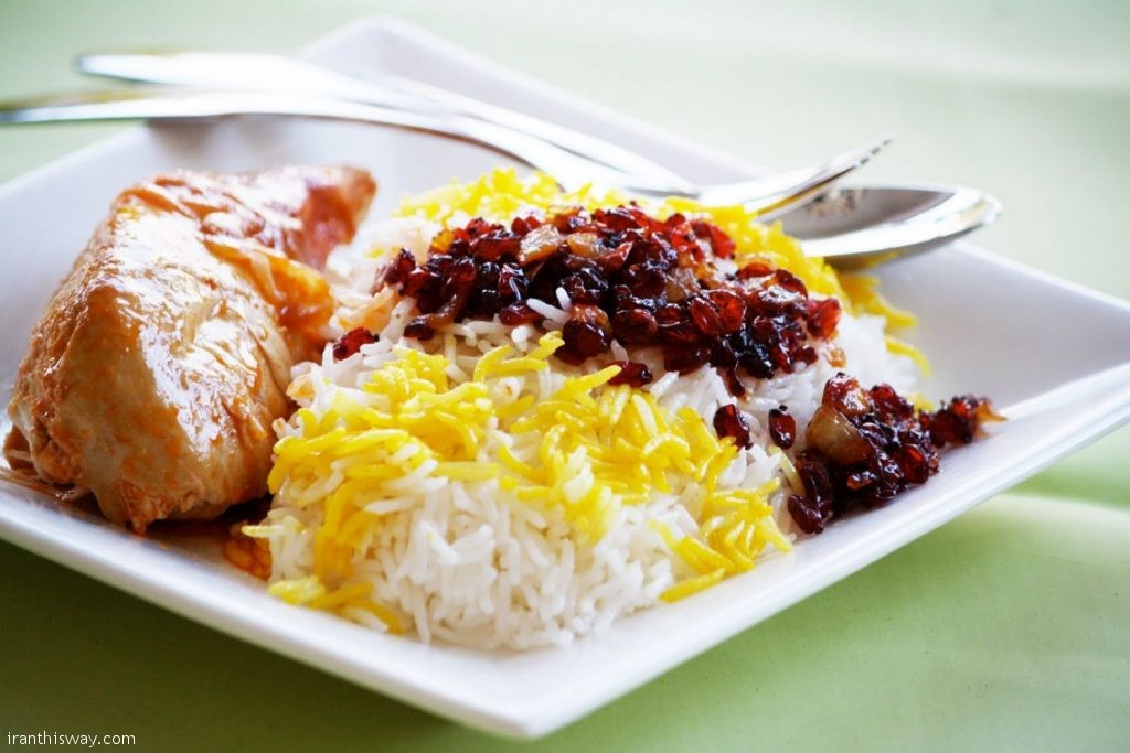 Zereshk Polo (Barberry Rice) Iranians love sour åavors