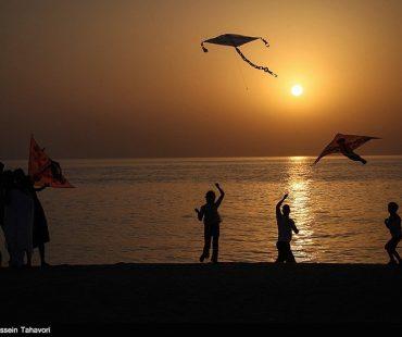 Beautiful sunset over the National Persian Gulf Day