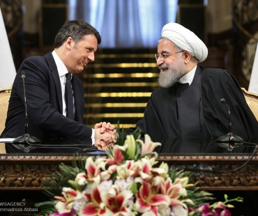 Prime Minister of Italy Matteo Renzi in Tehran to restore trade to pre-sanctions level