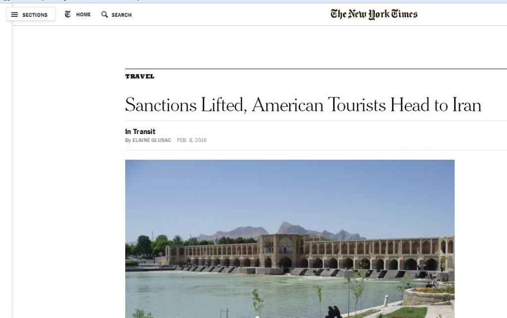 American Tourists Head to Iran