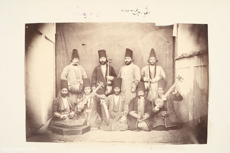Music group in Qajar peridos, source: Golestan Palace Libraray