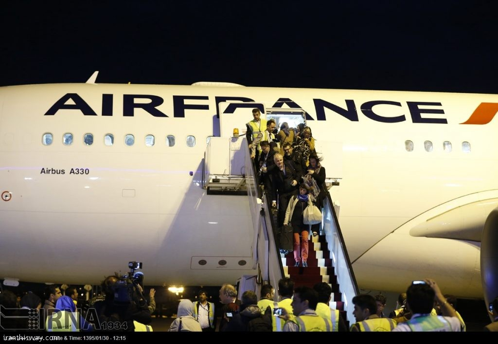 First Air France jet in years lands in Iran