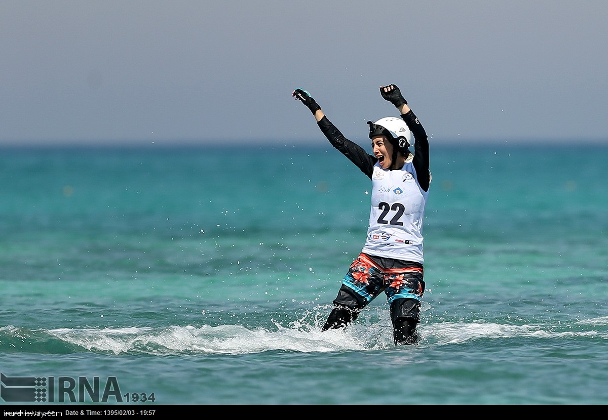 Iranian girls attended in Water skiing  Championships