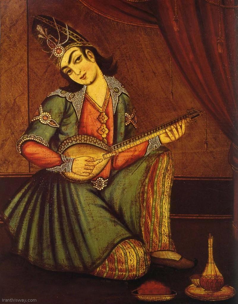 Qajari girl palyed tar