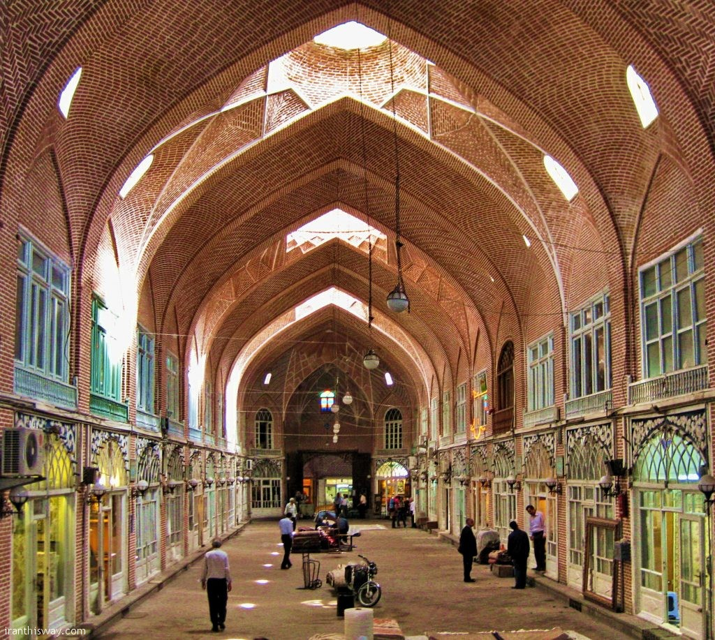 Shopping centers are mostly located in city center, including Grand Bazaar of Tabriz