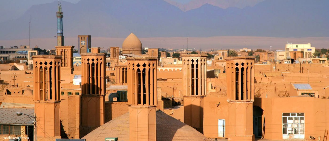 The capital of Yazd province has a unique Persian architecture. The historical city is nicknamed the city of wind catchers because of its ancient Persian wind catchers.