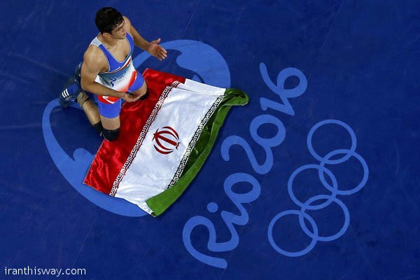 Yazdani Iranian freestyle wrestler wins gold medal in Rio 2016/ Photo+Video