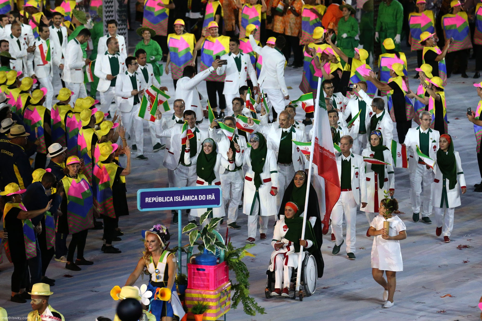 Flag bearer archer leads Iran into Rio Olympics