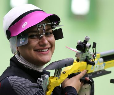 IRANIAN women athletes in action at Rio 2016 Olympics