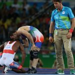 Iran's wrestler Hassan Rahimi has won a bronze medal in the 57-kilogram category of Rio 2016 Olympic Games Free-Style wrestling by defeating Cuban wrestler.  Rahimi had already received one gold, one silver and two bronze medals in free-style wrestling before the Rio 2016 wrestling competitions.