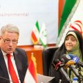 Iranian VP Ebtekar who is visiting Vienna signed an MoU, jointly with Agriculture Minister of Austria Andrä Rupprechter, to expand environmental cooperation between Iran and Austria.
