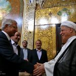 The President of French National Assembly Claude Bartolone who is visiting Tehran met on Tuesday with the Chairman of Iran's Expediency Council Akbar Hashemi Rafsanjani.