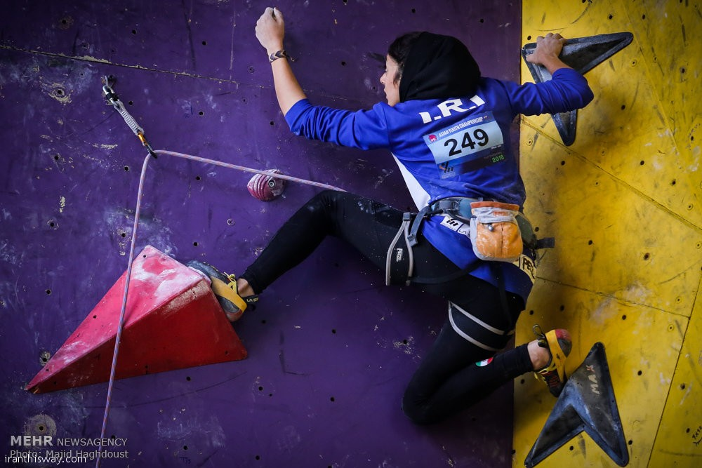 Asian rock climbing championships held in Tehran+Photo