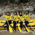 Haraz River is hosting rafting and kayaking competitions of Iran for two days. Young Iranian girls and boys participated in the championship for electing Iran national team./MNA