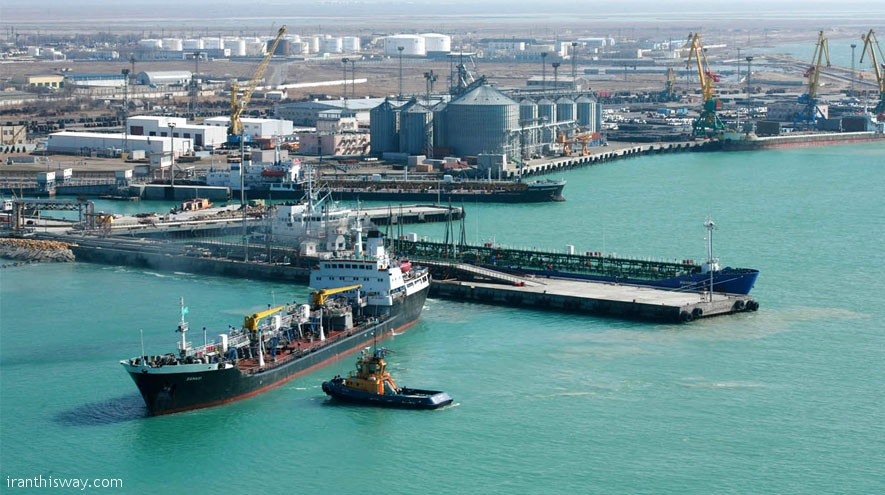 An Iranian official announced Mon. the official inauguration of a new port in Kazakhstan's city of Aktau by the docking of an Iranian ship there.