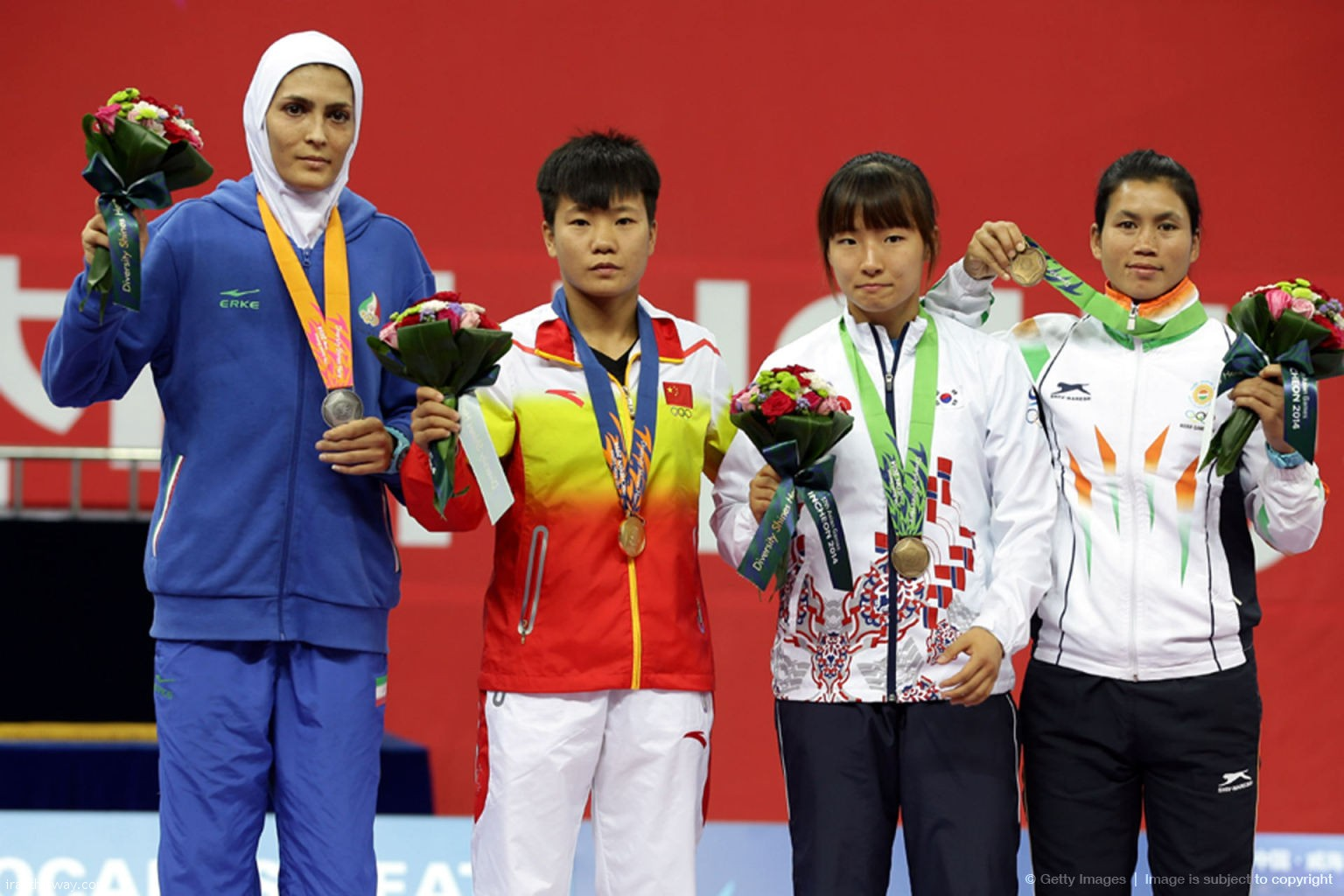 Iran's girl wins gold medal in Asian Wushu championship