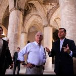 President of French National Assembly visited Naqsh-e Jahan squre and Vank church in historic site of Isfahan.