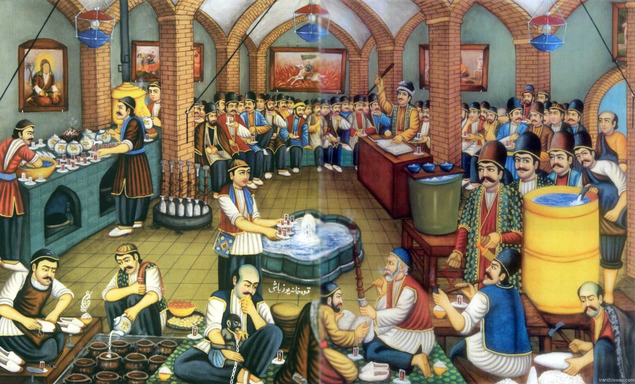 Traditional dizi resturant in Iran