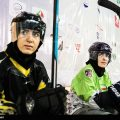 Iranian girl training for  national inline hockey team-Photo