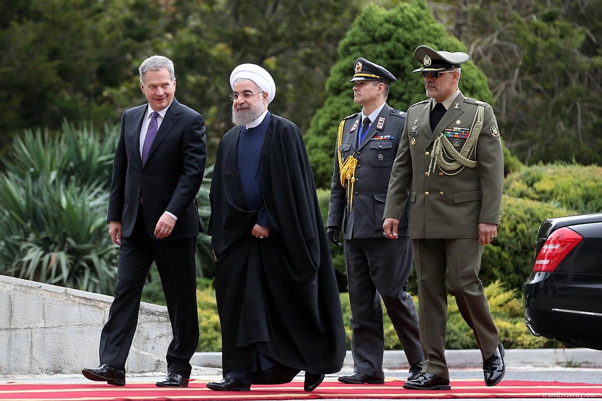 Finland President in Tehran+Photo
