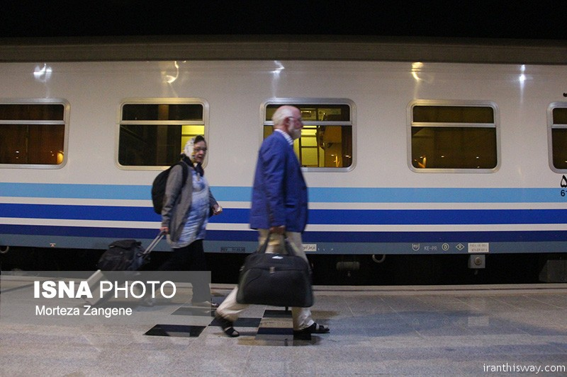 Golden Eagle luxury tourist train arrived in Isfahan