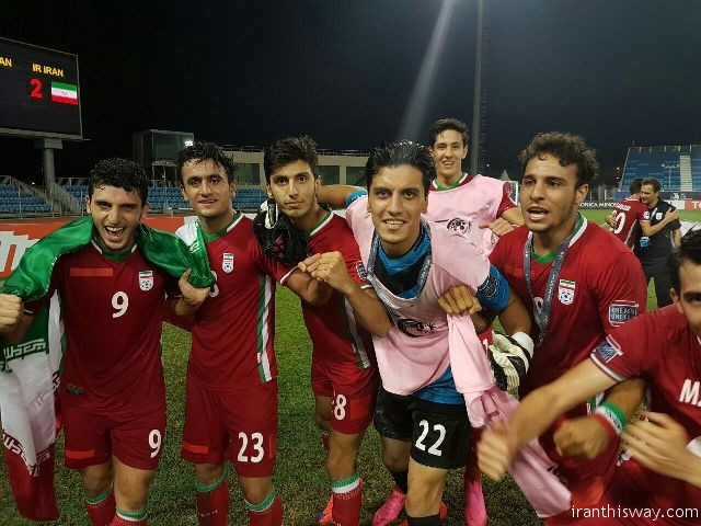 National Iranian junior football team beat Uzbekistan to both cruise to AFC U-19 Championship semifinals and get tickets to next year's FIFA U-20 World Cup in Korea Republic.
