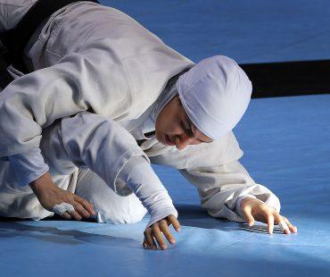 Iranian girls training grappling wrestling-Photo