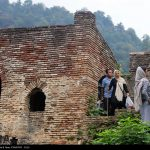 """Rudkhan castle is one of historical buildings in Gilan located on the crest of a mountain and is called by locals """"Zhiyeh Castle"""". The castle has been alternatively called """"One Thousand Steps"""", """"Hesami"""", and """"Saksar"""" castle too."""
