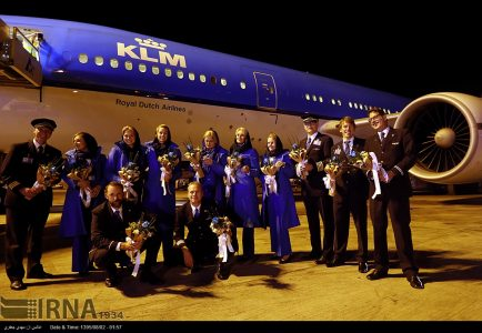 KLM resumed flights to IRAN+photo