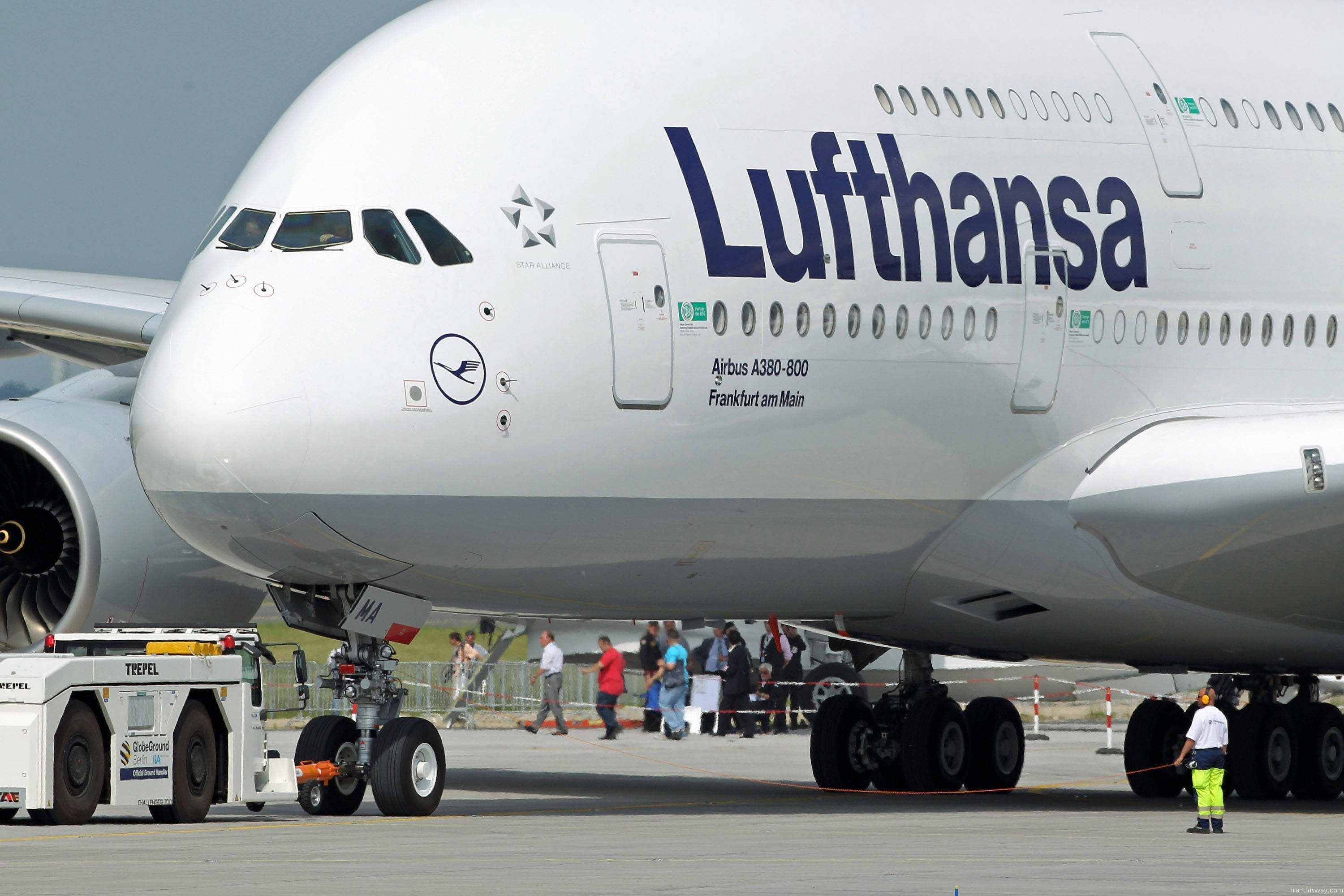 Lufthansa flights to Iran almost quadruple