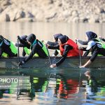 Photo: Iranian girls training Dragon boat in Khorasan