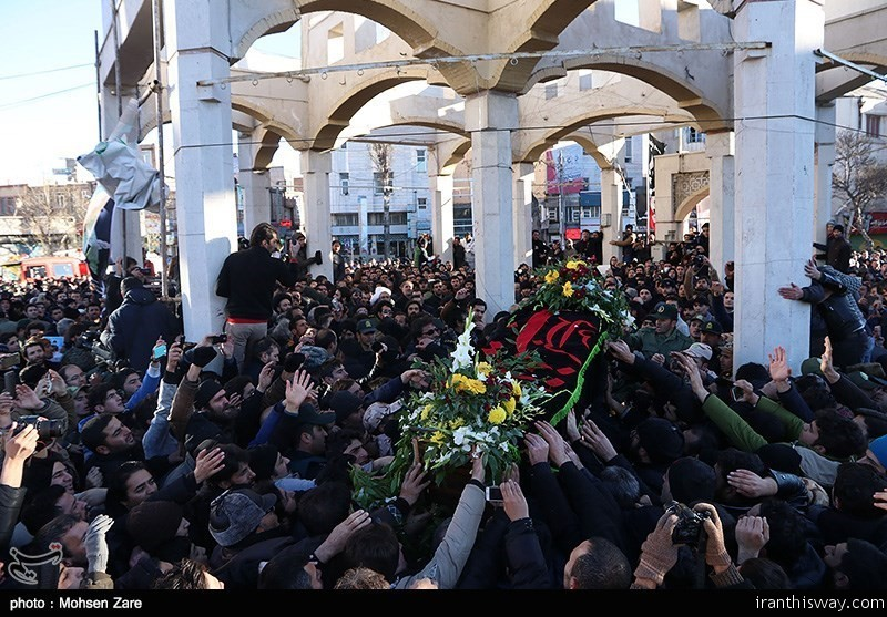 Photo: Funeral of Salim Moazzenzadeh Ardebli