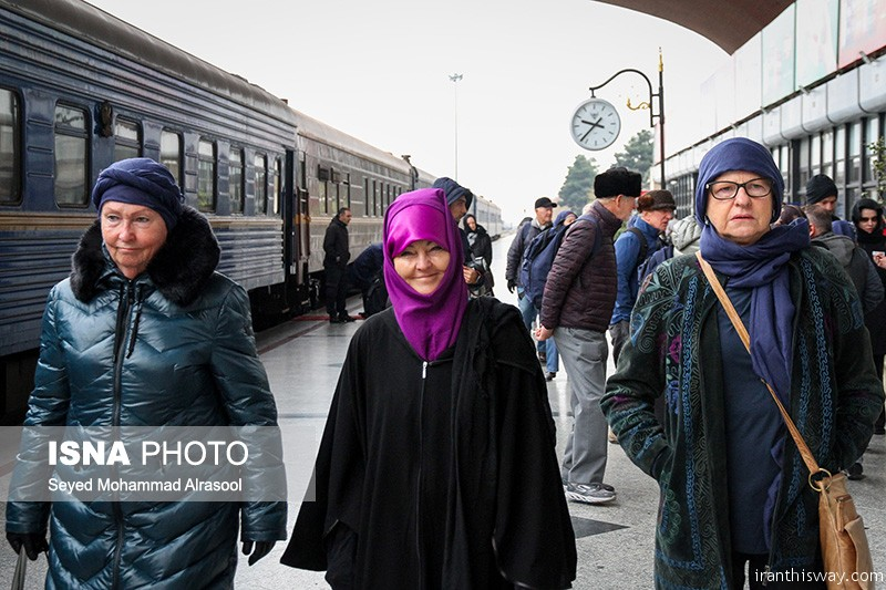 "Photo: ""Golden Eagle"" luxurious train arrived Mashhad"
