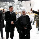President Rouhani officially welcomes Slovenian counterpart