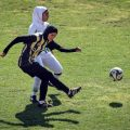Iranian girls football match in Shiraz