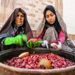Photo: Pomegranate in the heart of desert of Iran