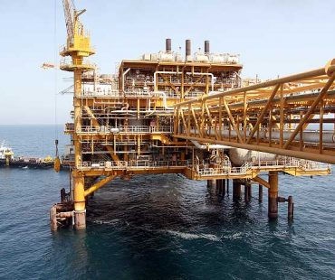 Iran's crude oil production in the Persian Gulf significantly increased