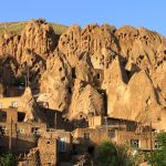 The historic Kandovan village located in northwest Iran is filled with scenic troglodyte homes in the shape of stony ice-cream cones which are still inhabited.