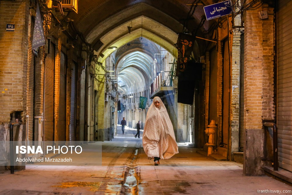 Photo: Tehran bazaar on holiday