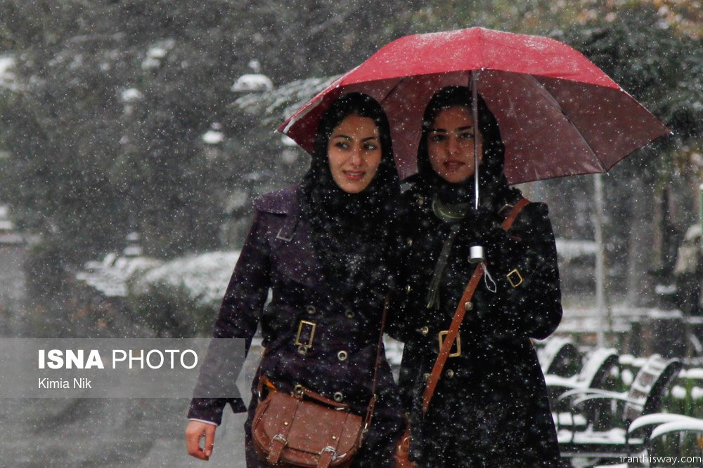 Photo: Snow Fall in Tehran