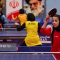 Iranian girls table tennis training