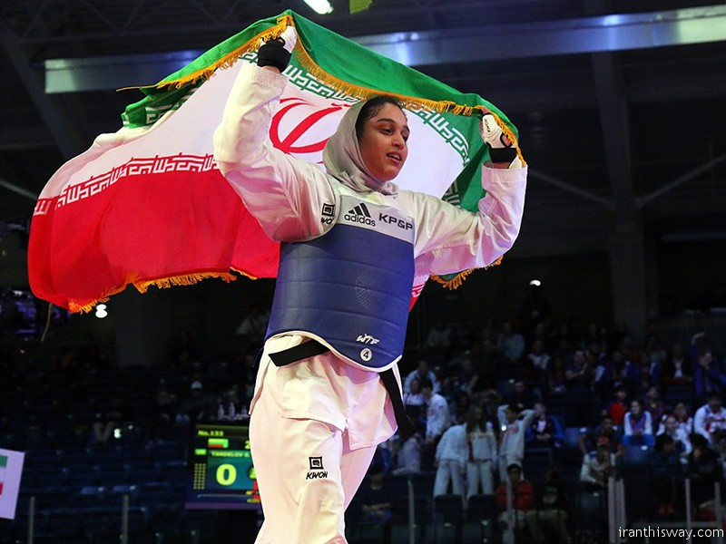 Photo: Iranian girls champion of 2016 world junior taekwondo Championship