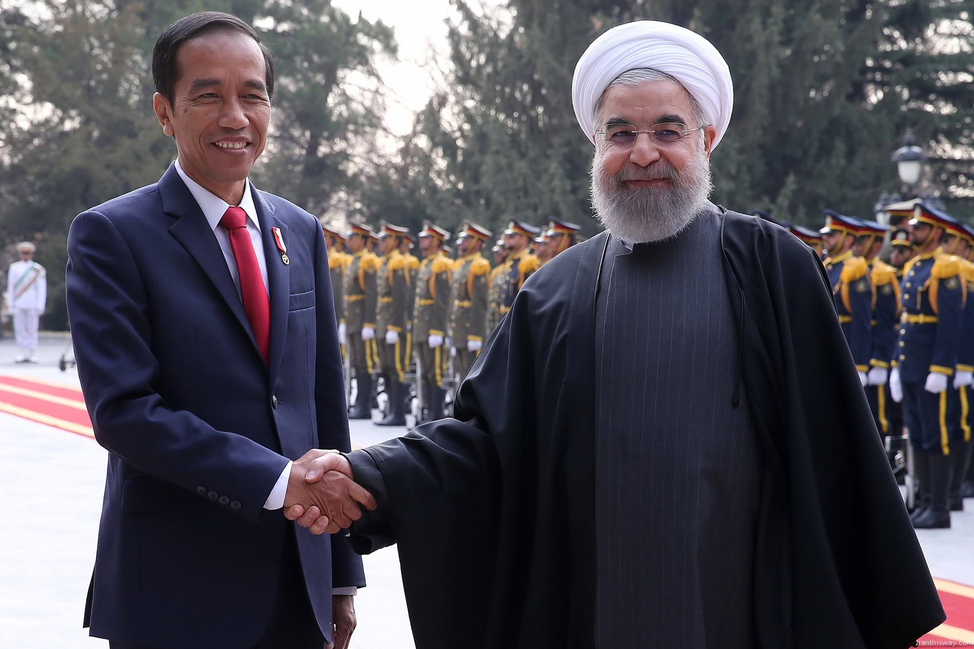 Indonesian president in Tehran+Photo