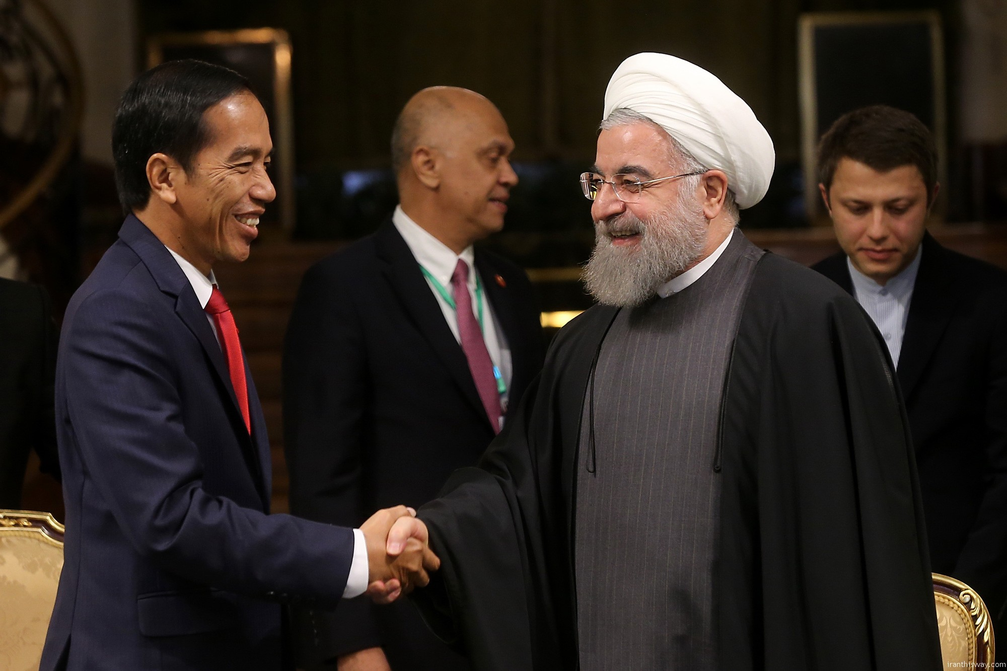 Indonesian President heading a high ranking politico-economic delegation arrived in Tehran on December 13 to confer with Iranian senior officials.