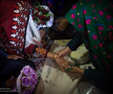 Photo: Turkmen traditional wedding in a village