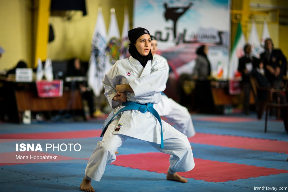 Photo: Iranian women Karate super league started