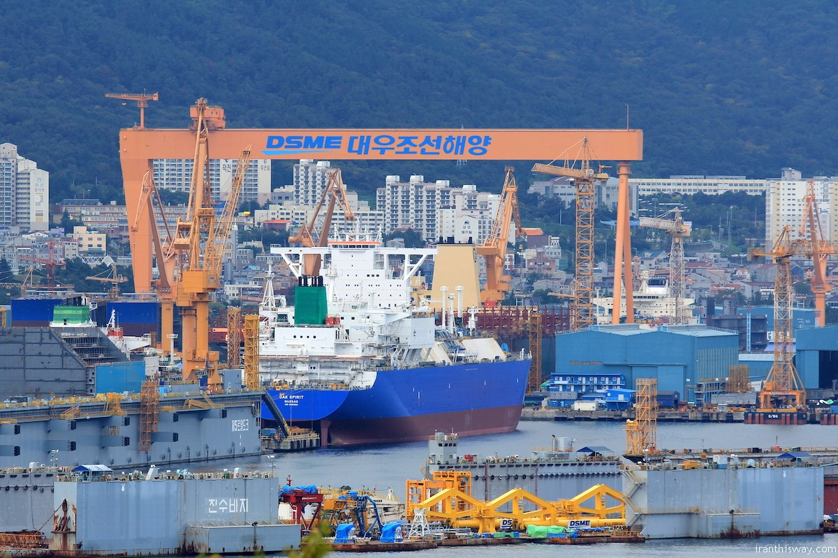 South Korean shipbuilder Daewoo Shipbuilding and Marine Engineering Co., Ltd. (DSME) and the Industrial Development and Renovation Organization of Iran (IDRO) have signed an outline agreement to cooperate on developing Iran's shipbuilding industry.