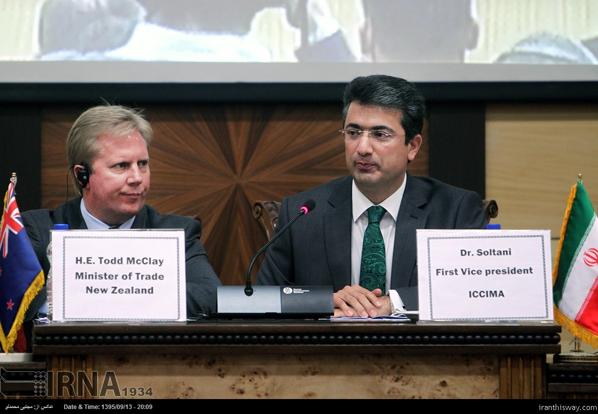 New Zealand Minister of Trade Todd McClay in Tehran